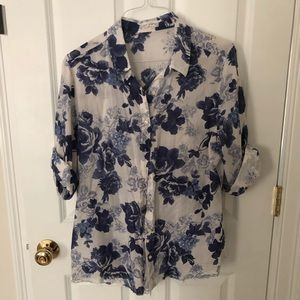 Free People button down summer Blouse.